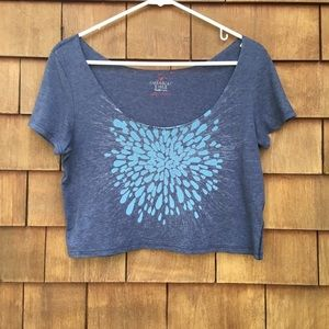 American Eagle AEO crop top short sleeve T-shirt S